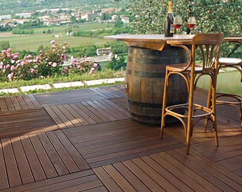 I pavimenti in legno da esterno della linea Decking Garbelotto e Master Floor  Garbelotto