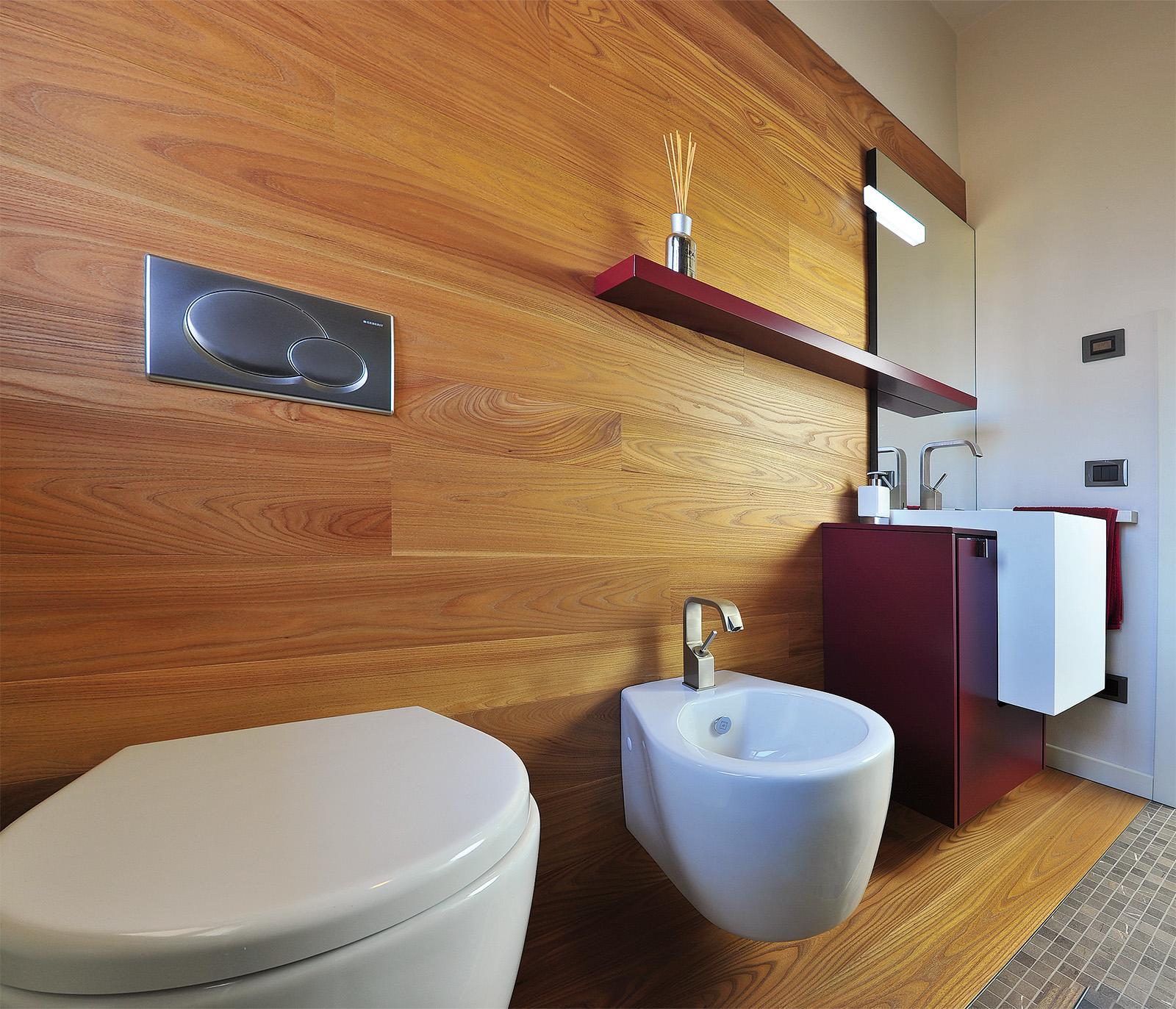 Bagno con finto parquet: ... ceramiche, pavimenti, rivestimenti ...