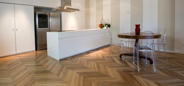 Parquet in cucina da sogno a realt con pochi for Pavimenti per cucina e soggiorno