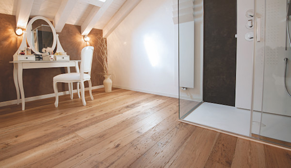 Appartamento tra passato e futuro con il parquet garbelotto