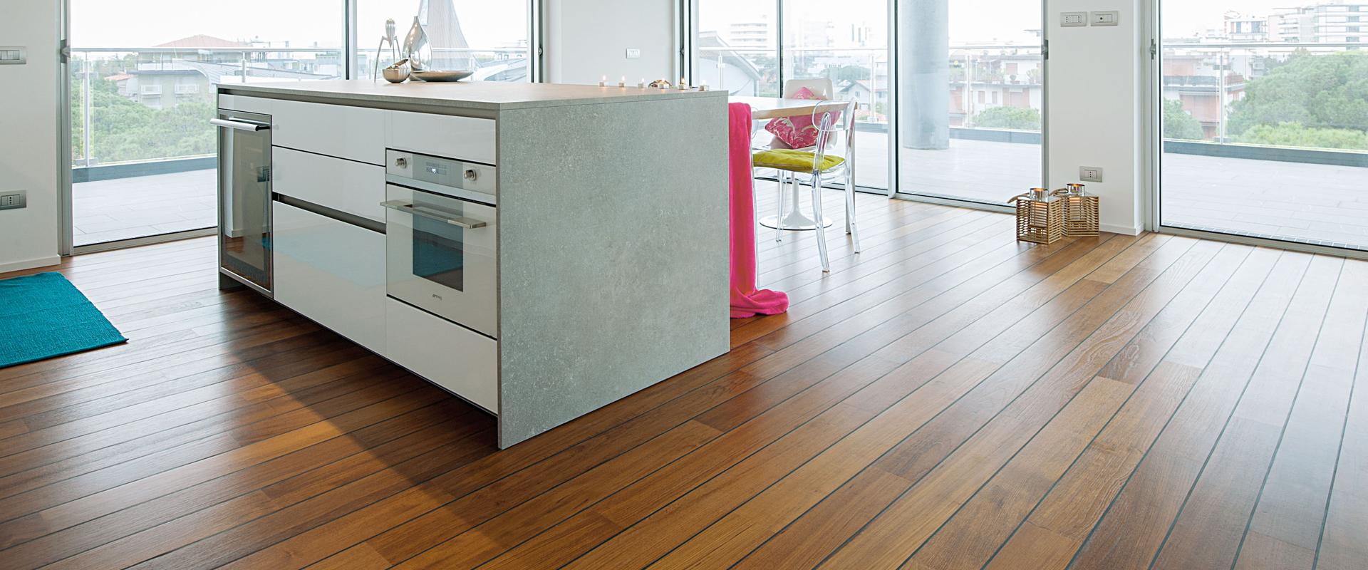 Gallery pavimento in legno per la cucina garbelotto - Pavimenti x cucina ...