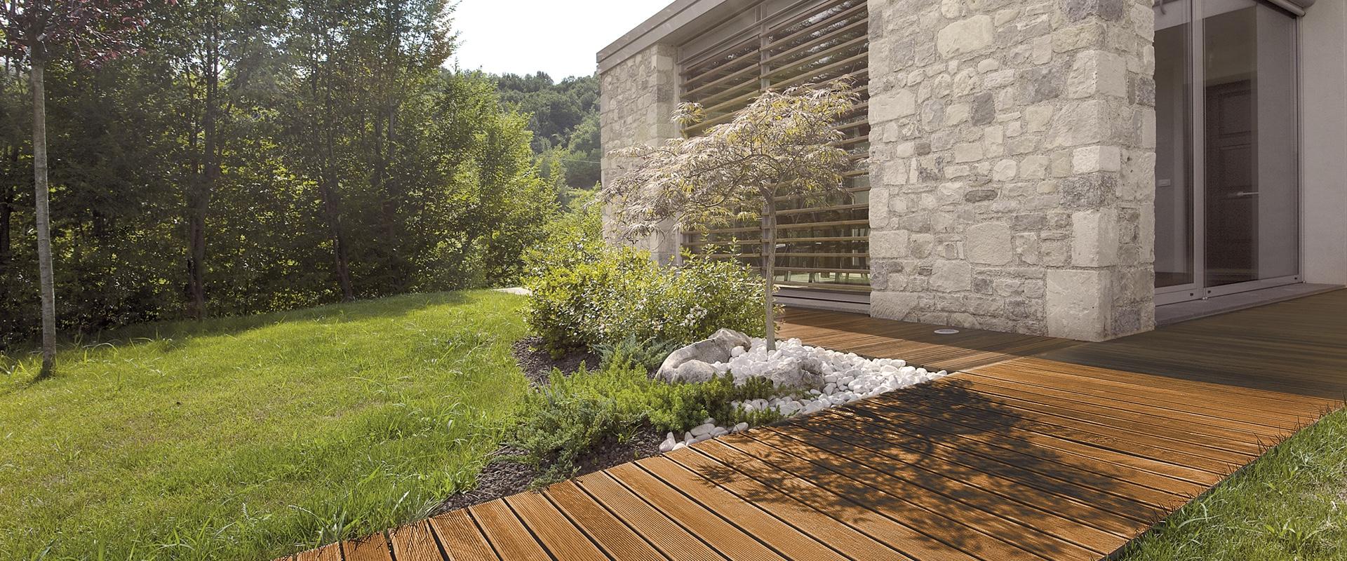 Pavimento A Incastro Per Esterni pavimenti in legno da esterno della linea decking garbelotto